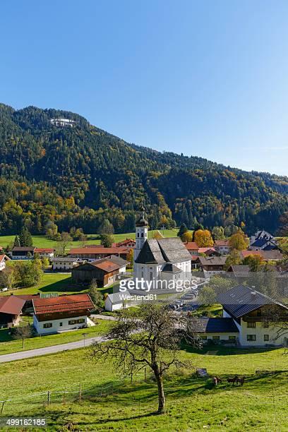 Germany, Chiemgau, View of Sachrang