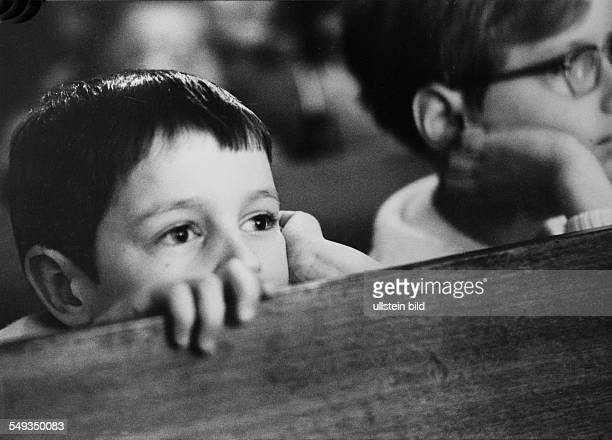 Germany children watching a play in the childrens theater in Berlin spectators little boy