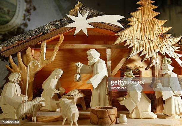 christmas wood carving nativity scene