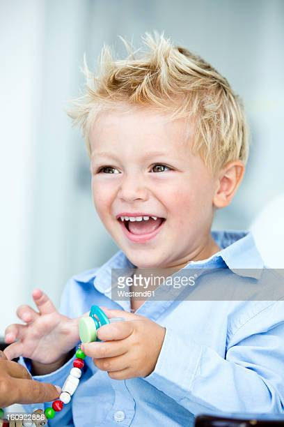 Germany, Close up of boy, smiling