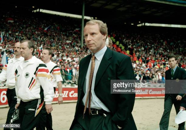 Germany coach Berti Vogts prior to the start of the UEFA Euro96 final between the Czech Republic and Germany at Wembley Stadium in London on 30th...