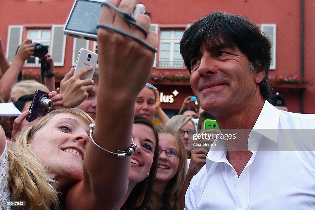 Joachim Loew Signs Freiburg's Golden Visitors' Book : News Photo