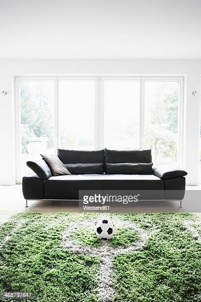 Germany, Cologne, Football field in living room