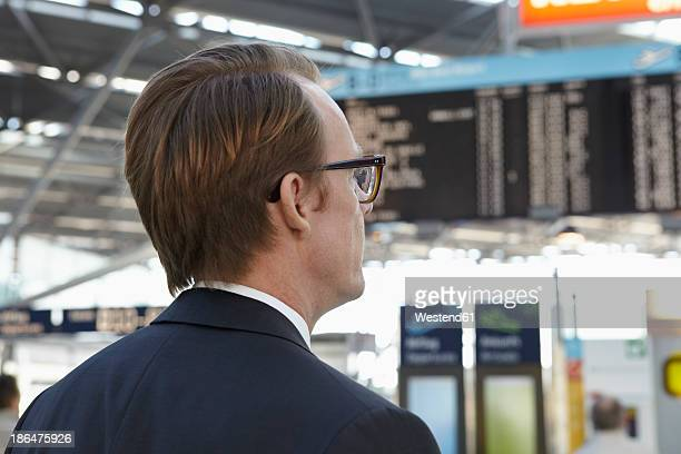 Germany, Cologne, Mature man at airport