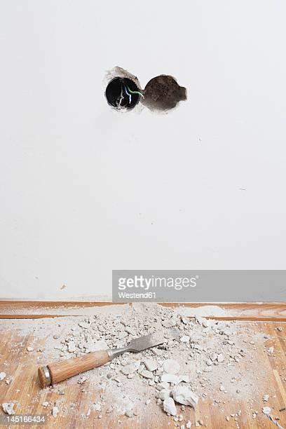 Germany, Cologne, Work tools on oak floor