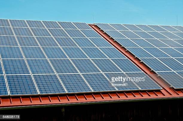 Germany, Constance, Solar panel on roof of a barn