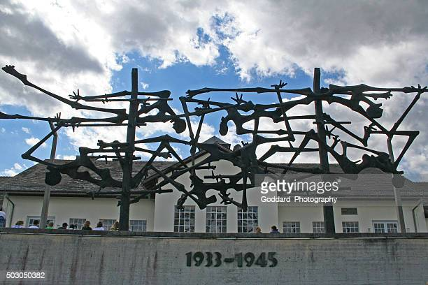 germany: dachau concentration camp - concentration camp stock photos and pictures