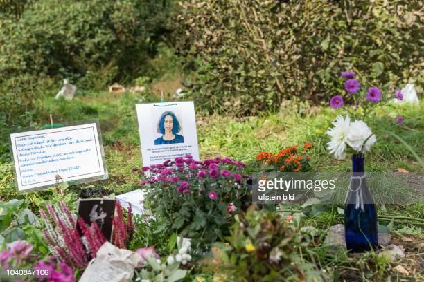 DEU Germany Deutschland Berlin Gedankplatz am Eingang zum Tiergarten für eine Frau die von einem Obadchlosen im September 2017 überfallen und...