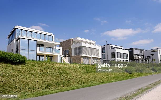 Germany, Dortmund, Modern one-family houses, Development area Phoenix-See