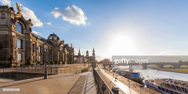 Germany, Dresden, Bruehl's Terrace and Augustus bridge
