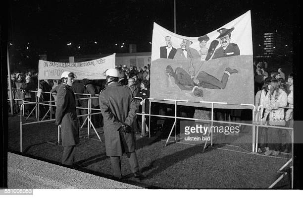Germany, Duesseldorf: Banquet and Ball at the Hilton in 1965 was applauded by the rich and the new rich, but not the opponents of the junta at the...