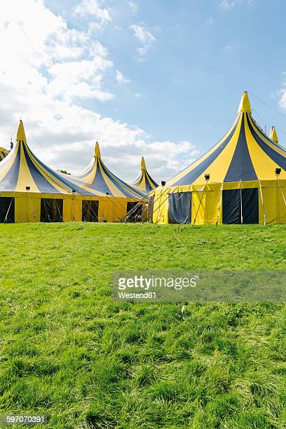 Germany, Duesseldorf, circus tents
