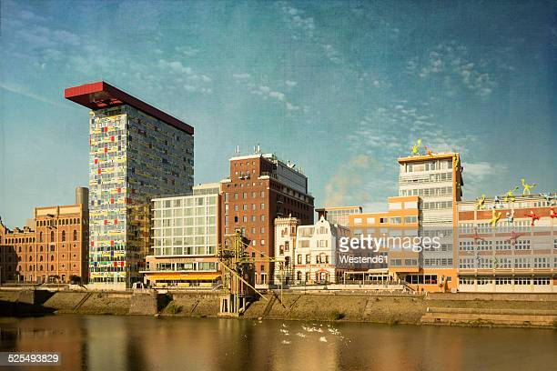 Germany, Duesseldorf,  View of Media harbour