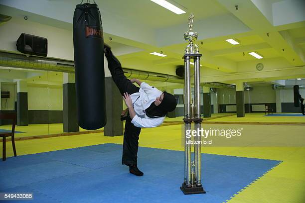 Germany Duisburg Marxloh Tuba Senol 18 years old taekwondo World champion European champion and several times German champion weight class 55 Here in...