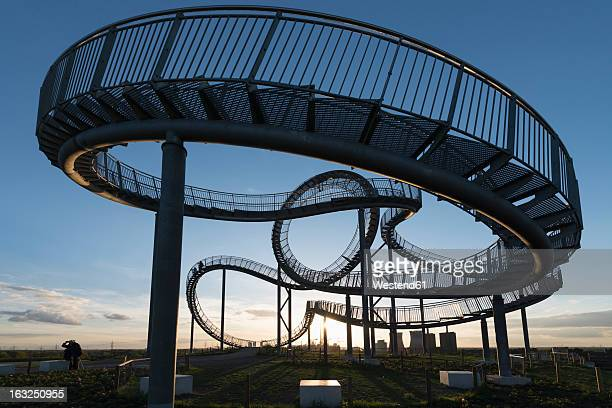 germany, duisburg, view of tiger and turtle art installation at angerpark - north rhine westphalia stock pictures, royalty-free photos & images