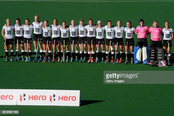 Germany during day 9 of the FIH Hockey World League Women's Semi Finals final match between United States and Germany at Wits University on July 23...