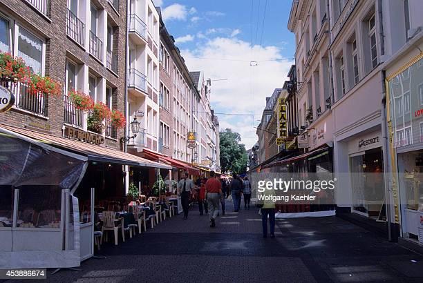 Germany Dusseldorf Old Town Wolker Strasse Street Scene Bars And Restaurants