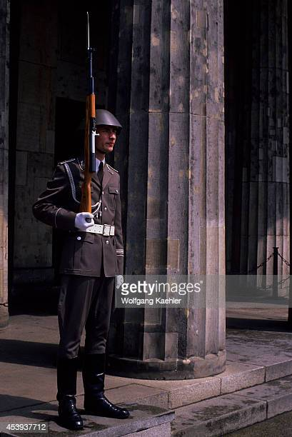 Germany East Berlin Guard At The Memorial To The Victims Of Fascism Militarism