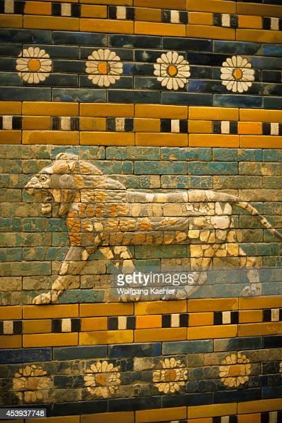 Germany East Berlin Pergamon Museum Ishtar Gate From Babylon Detail