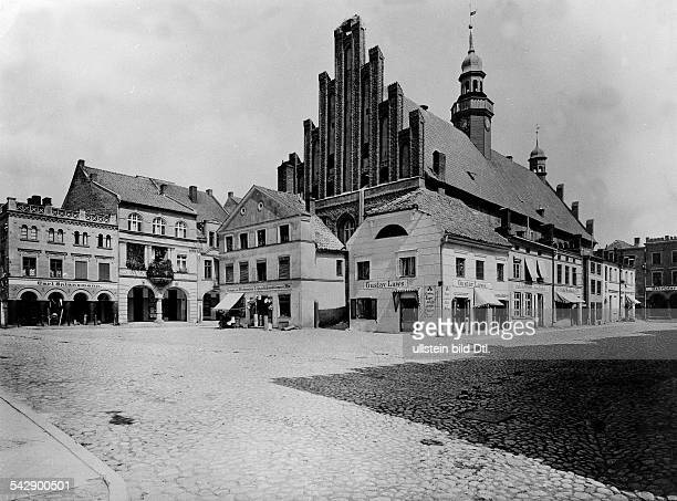Germany East Prussia Wormditt City hall and marketplace Around 1915