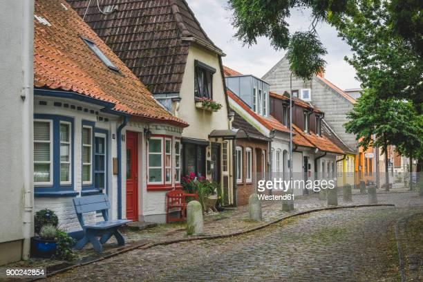 Germany, Eckernfoerde, alley in the old town