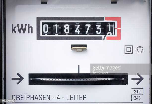 Electricity meter, close-up (full frame)