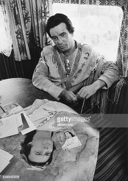 Germany Elspe actor Pierre Brice in the costume as Winnetou