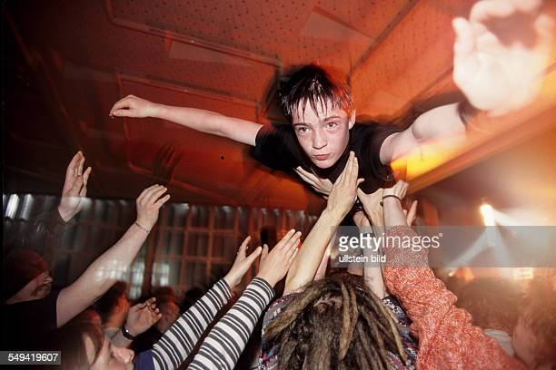 StageDiving during a concert