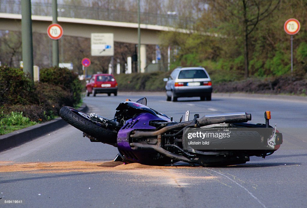 Accident - A motorcyclist collided with a car  News Photo - Getty Images
