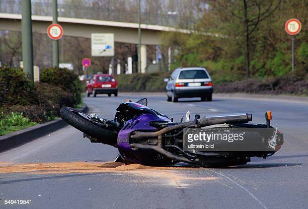 DEU Germany Essen Accident A motorcyclist collided with a car