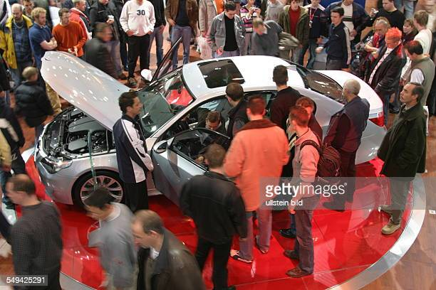 EMS Essen Motor Show International fair for automobiles tuning and classics presentation of new automobiles at different stands
