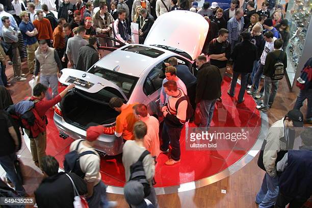 EMS Essen Motor Show International fair for automobiles tuning and classics visitors at the stand of BMW