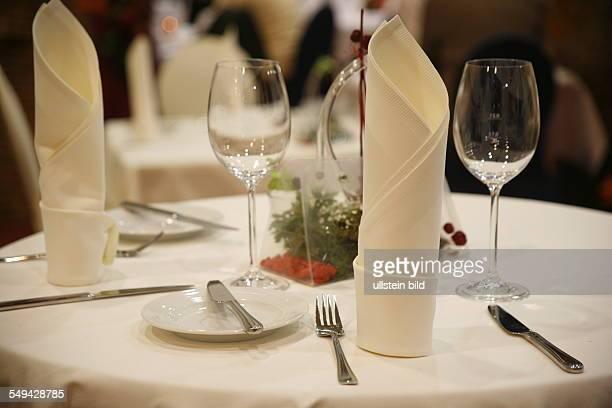 Gourmet fair Festively covered table