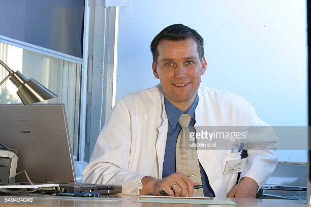 DEU Germany Essen medicine physicist and nonmedical practitioner Holger May manager of the Laser Forum Essen wwwlfessende