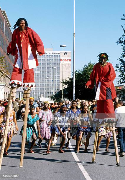 Ruhr Area 1 Carnival of Cultures in Essen African dancer
