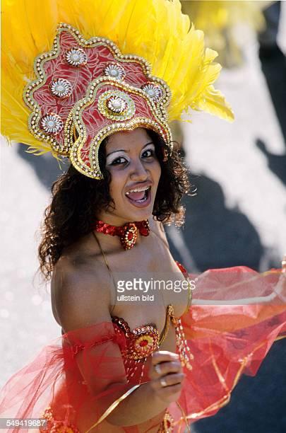Ruhr Area 1 Carnival of Cultures in Essen Brasilian samba dancer