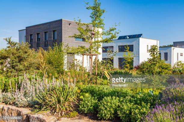 germany, esslingen-zell, development area with passive houses - grounds stock pictures, royalty-free photos & images