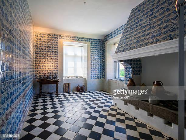 Germany, Eutin, Eutin Castle, Inerior of historic kitchen