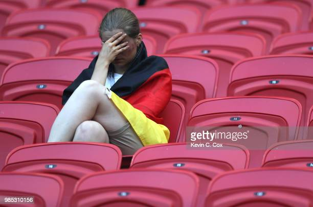 Germany fan looks dejected following his sides defeat in the 2018 FIFA World Cup Russia group F match between Korea Republic and Germany at Kazan...