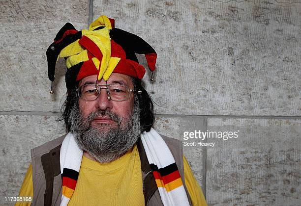 Germany fan prior to the FIFA Women's World Cup Group A match between Germany and Canada at Olympic Stadium on June 26 2011 in Berlin Germany