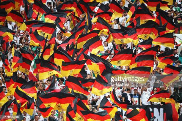 Germany fans are seen during the 2018 FIFA World Cup Russia group F match between Germany and Mexico at Luzhniki Stadium on June 17 2018 in Moscow...