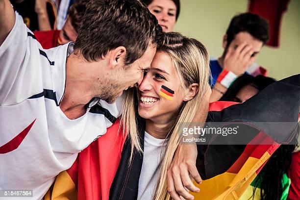 Germany fans kiss