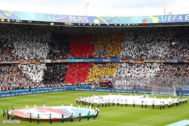 Germany fans show their support prior to the UEFA EURO 2016 Group C match between Northern Ireland and Germany at Parc des Princes on June 21 2016 in...