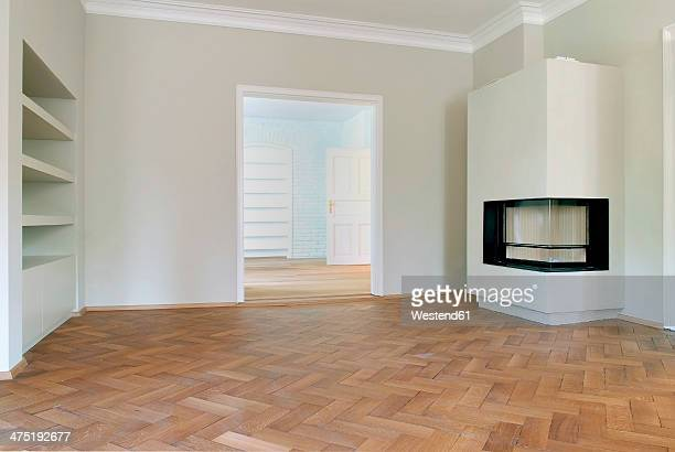 Germany, Fireplace in empty room