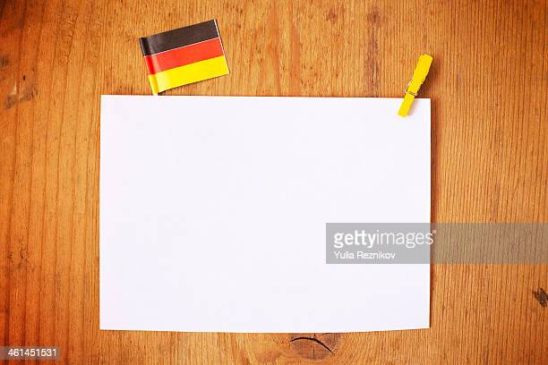 Germany flag with white letterhead