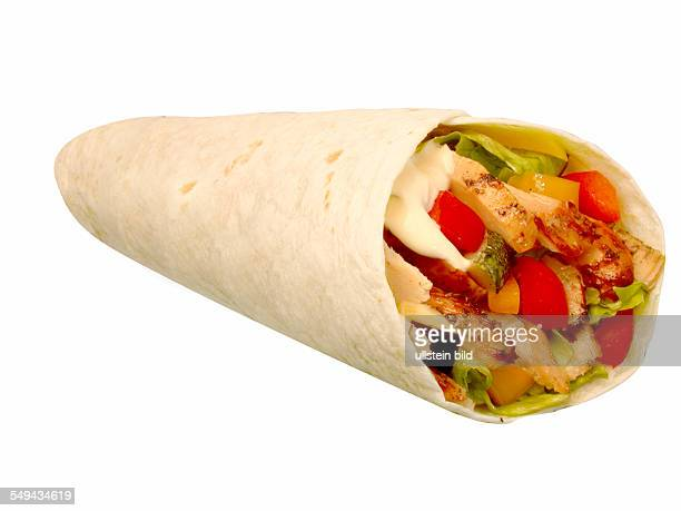 Food wraps wrap with chicken and cheese