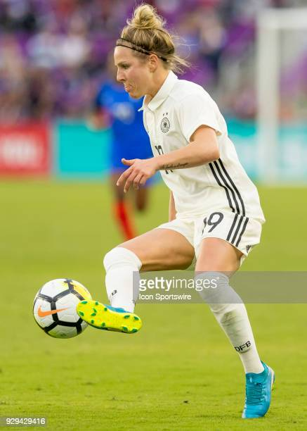 Germany forward Svenja Huth during the SheBelieves Cup between Germany and France on March 7th 2017 at Orlando City Stadium in Orlando FL