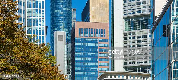 Germany, Frankfurt, facades of skyscrapers in the financial district