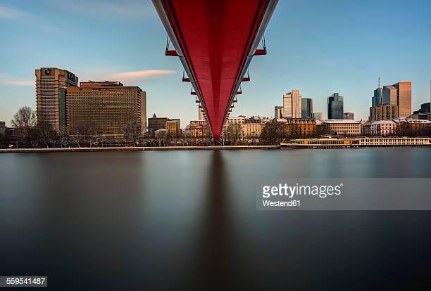 Germany, Frankfurt, Holbeinsteg above River Main