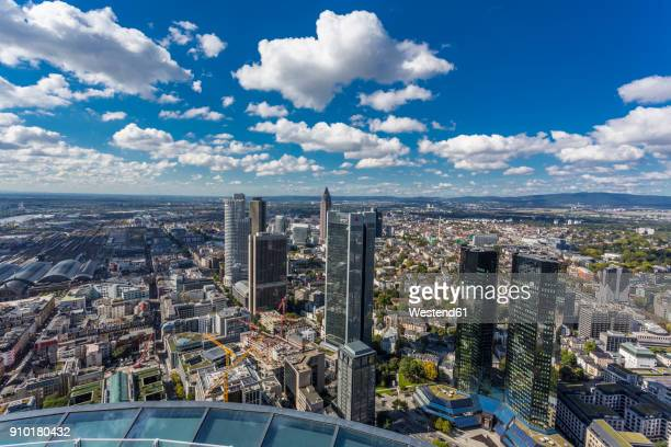 Germany, Frankfurt, view to the city with financial district from Maintower